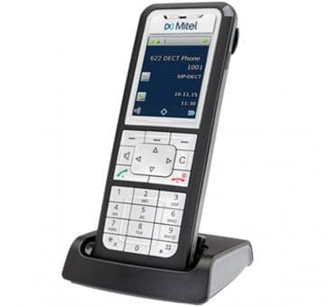 "Mitel 622d DECT phone with colour 2"" TFT display"