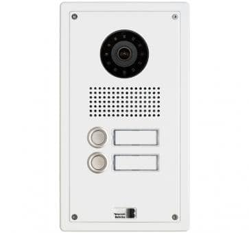 Telecom Behnke series 5 white 2 buttons IP doorstation Aluminium 5-0012-IP flush mount