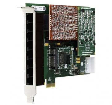 Digium 1A8B00F 8 port base card analog PCIe (without modules