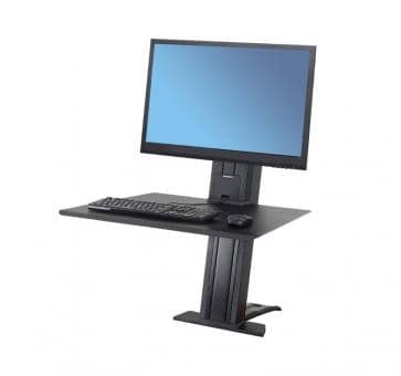 Ergotron WorkFit-SR Single Monitor black Sit-Stand Desktop Workstation 33-415-085