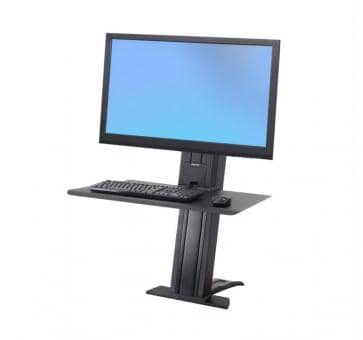 Ergotron WorkFit-SR Single Monitor heavy black Short Surface Sit-Stand Desktop Workstation 33-421-085