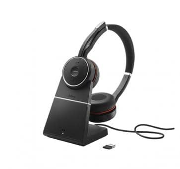 JABRA Evolve 75 Bluetooth Headset Duo UC NC inkl. Charging Stand 7599-838-199