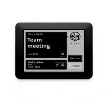 JOAN Visual Communication Manager 6 inch E-Link Room Manager WiFi WPA2-PSK black
