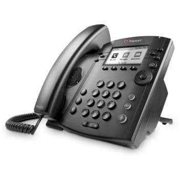 Polycom VVX300 Desktop phone Skype for Business (Lync) HD Voice 2200-46135-018