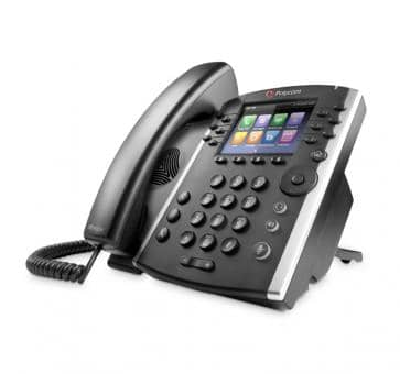 Polycom VVX400 IP phone PoE Skype For Business (no PSU) 2200-46157-019