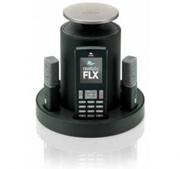Revolabs FLX 2 analog conferencing system with 2 table microphones