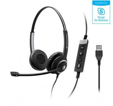 EPOS Sennheiser SC260 Headset Duo USB Skype for Business 506483