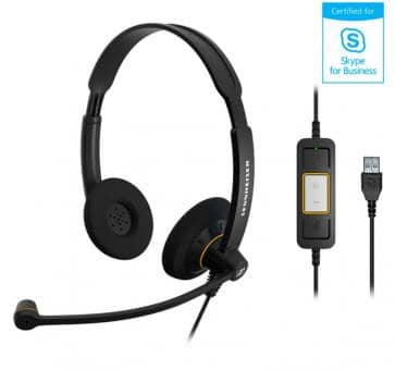 EPOS Sennheiser SC70 Headset Duo USB Skype for Business 506502