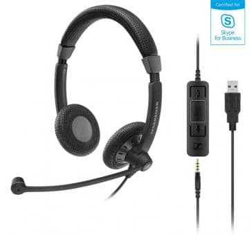 EPOS Sennheiser SC75 Headset Duo USB 3,5mm jack Skype for Busines