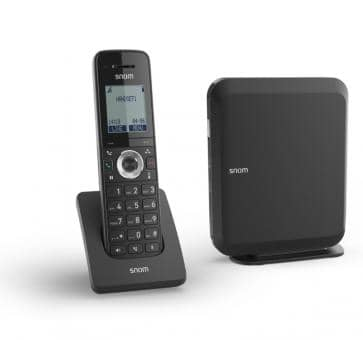 SNOM M215 SC IP DECT Single Cell base station and handset