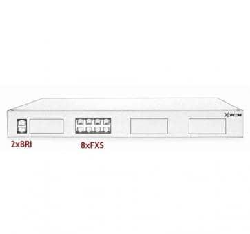 Xorcom IP PBX - 2 BRI + 8 FXS- XR1-33