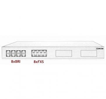 Xorcom IP PBX - 8 BRI + 8 FXS - XR1-42
