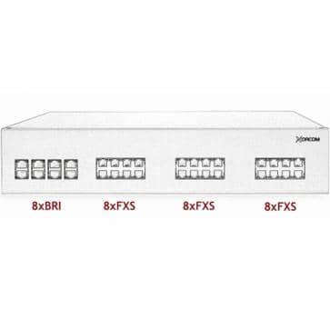 Xorcom IP PBX - 8 BRI + 24 FXS - XR2044