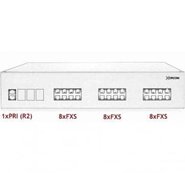 Xorcom IP PBX - 1 PRI + 24 FXS - XR2050