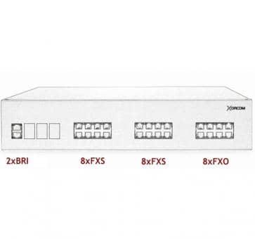 Xorcom IP PBX - 2 BRI + 16 FXS + 8 FXO - XR2092