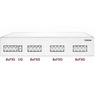 Xorcom IP PBX - 8 FXS + 24 FXO - XR3011