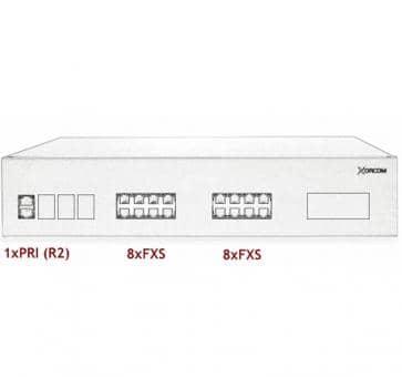 Xorcom IP PBX - 1 PRI + 16 FXS - XR3049